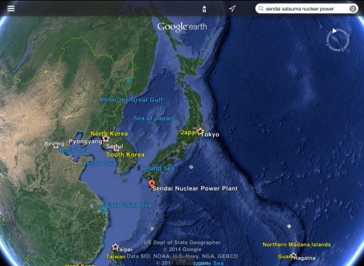 Japan Sendai NPS map