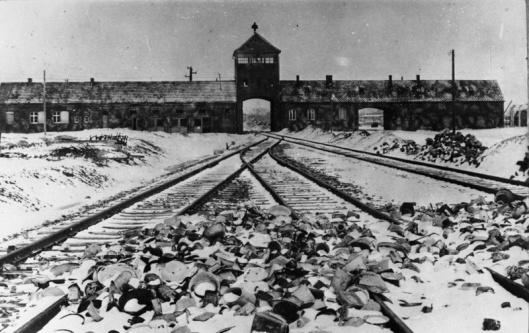 Auschwitz Entrance 1945