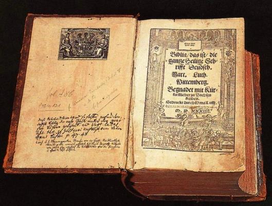 Luther Bible 1534 public domain via wikimedia