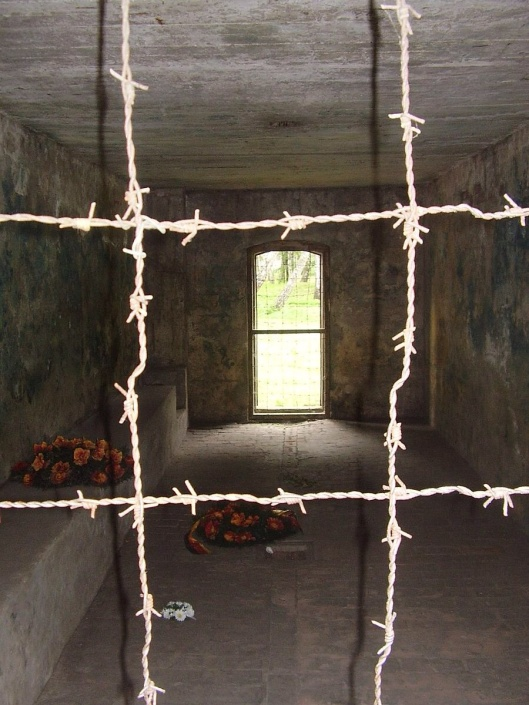 Interior of gas chamber, Stutthof concentration camp, Public Domain via Wikimedia