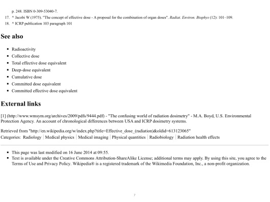 Effective Dose, Wikipedia, p. 7