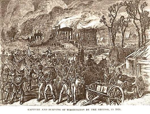 Burning of Washington by King George III's troops 1814