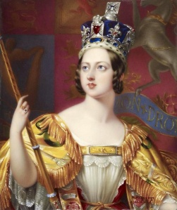 Queen Victoria in her coronation robes, by George Hayter, 1860