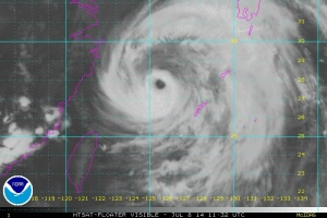 Neoguri water vapor July 8 2014