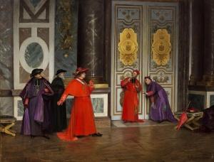 Henri Adolphe Laissement Kardinäle im Vorzimmer 1895