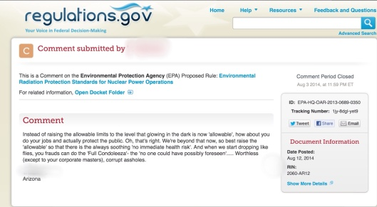 EPA not doing job comment Condoleeza