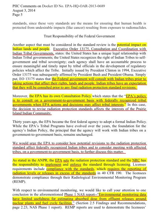 Prairie Island Sioux EPA comment, p. 5