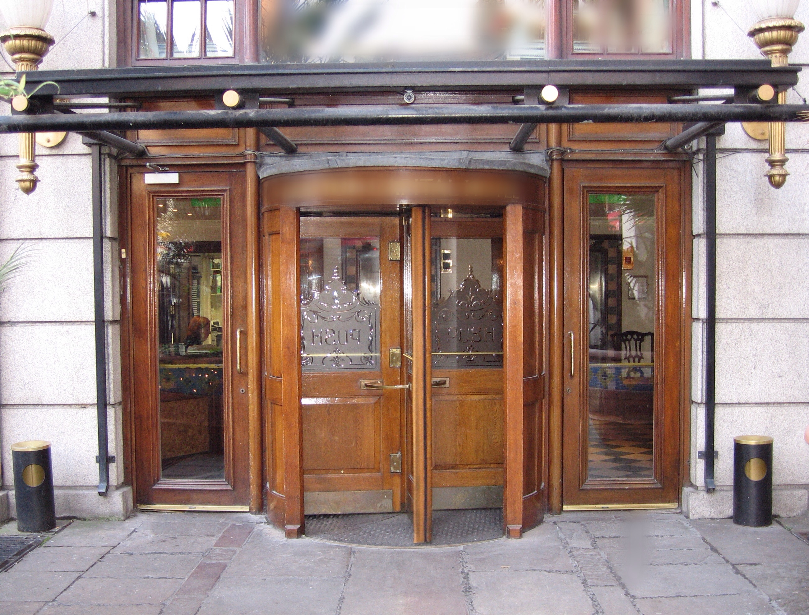 Revolving doors of Grafton Capital Hotel CC BY 2.0 Russell James Smith - originally posted to & The French Revolving Door; Radioactive Waste Bed: Nuclear Blown ...