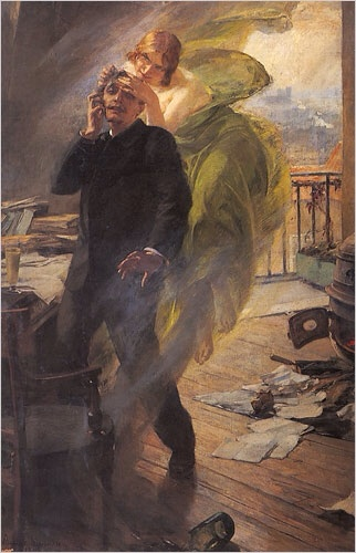 "Albert Maignan's ""Green Muse"" (1895): A poet succumbs to the Green Fairy"