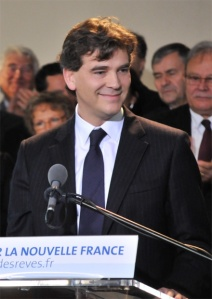 Arnaud Montebourg declaring his candidature for the Presidency of the French Republic  at Frangy-en-Bresse le 20 novembre 2010  by Lysandre78, CC-By-SA-3.0 via Wikimedia