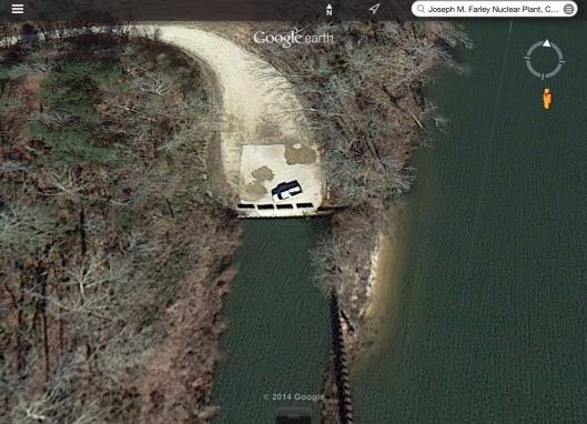Truck on Chattahoochee River near JM Farley NPS