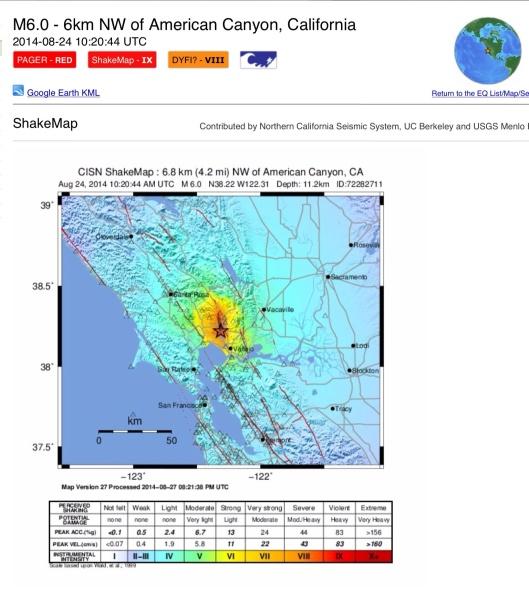 USGS San Francisco Quake 2014
