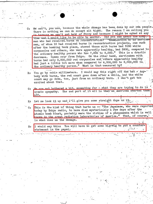 Top Secret Phone Call Re Hiroshima-Nagasaki 25 August 1945, p. 3