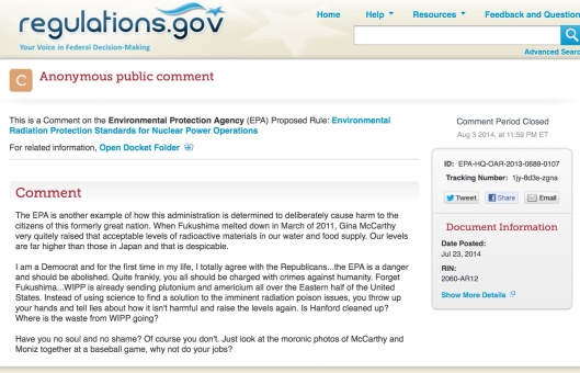 EPA Rad Comment re abolition of EPA