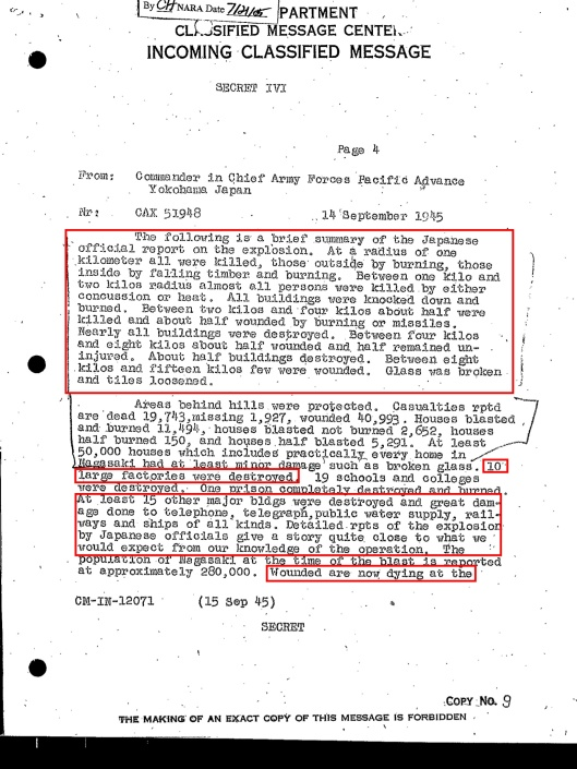 Nagasaki 14 Sept 1945 Declassified, p. 4