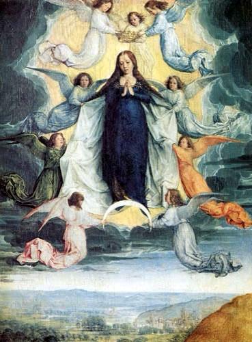 L'Assomption de la Vierge peint par Michel Sittow, vers 1500.