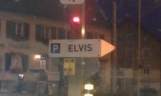 Elvis parking sign