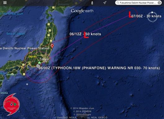 Typhoon Phanfone and Fukushima