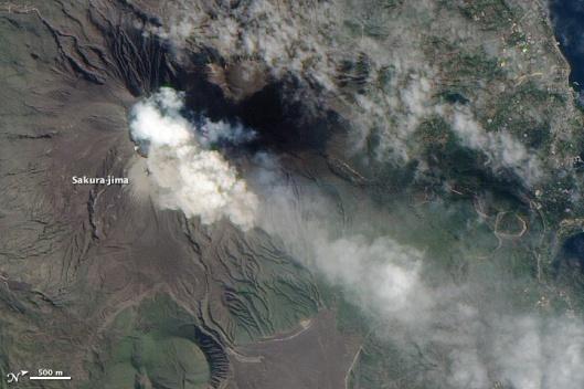 Sakurajima Feb 15 2010 NASA