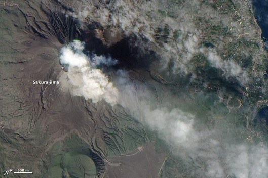 Sakurajima Feb 15 2010 NASA