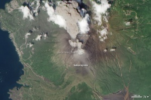 Sakurajima Aug 19 2010 NASA