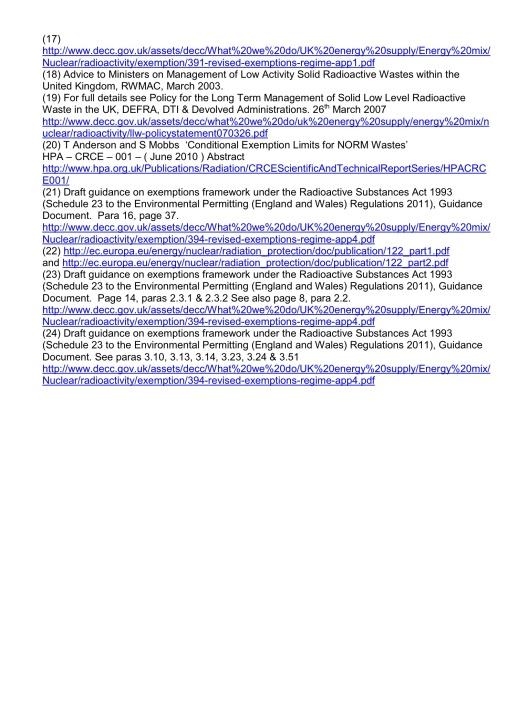 NFLA Radioactive Waste Briefing 26, p. 7