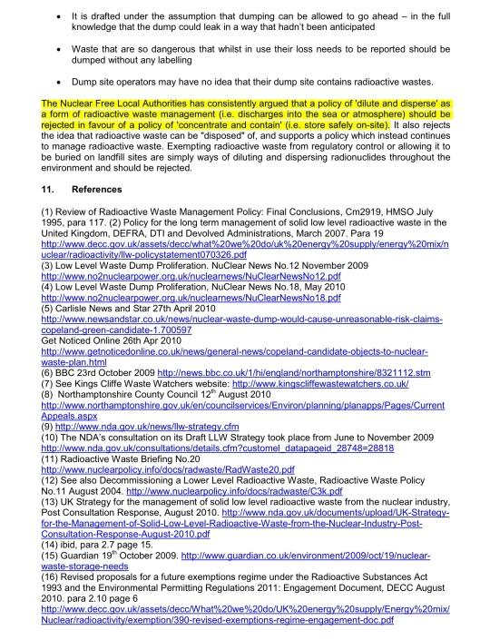 NFLA Radioactive Waste Briefing 26, p. 6