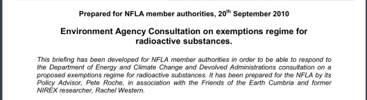 NFLA Radioactive Waste Briefing 26, p. 1 a