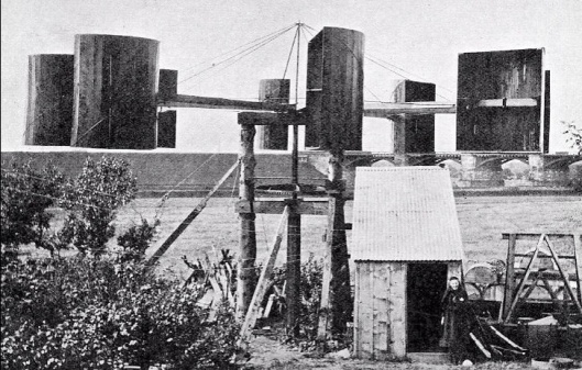 "Blyth's ""windmill"" at his cottage in Marykirk in 1891"