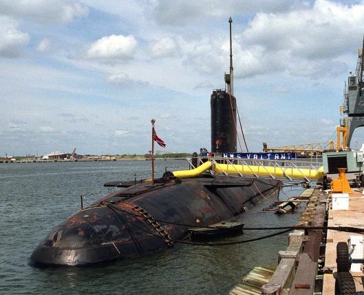 Rolls Royce British nuclear-powered attack submarine HMS Valiant