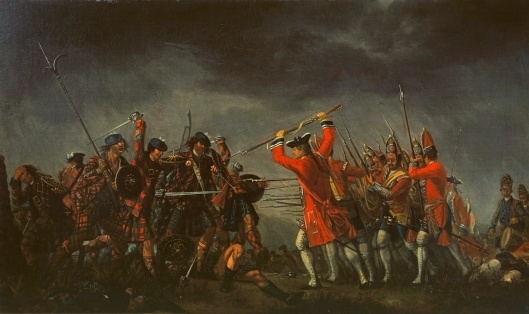 The Battle of Culloden, 1745, by David Morier, oil on canvas (1776).