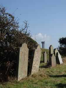 Windscale Chimney a few  miles away from St Bridget's Church - Moorside would be on the beautiful buffer zone between Beckermet and Sellafield.
