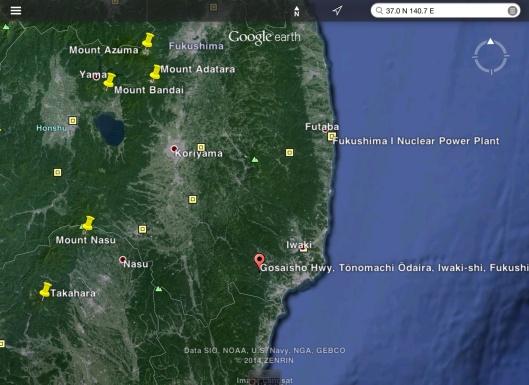 Fukushima mini Earthquake map