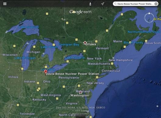 Davis Besse Map