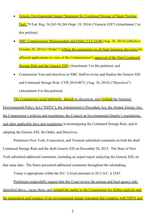 NY VT CT vs. NRC Oct. 2014,  p. 2