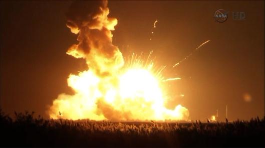 NASA explosion antares