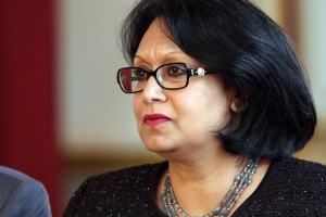 """""""Baroness"""" Verma at the Mock Council of the European Union, 17 November 2011 Foreign and Commonwealth Office Licensed under the Open Government Licence v1.0."""