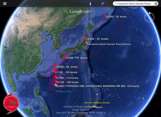 Japan Typhoon as of Oct. 10th 2014