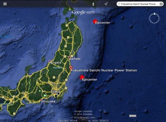 Japan Oct. 11 2014 quakes near Fukushima