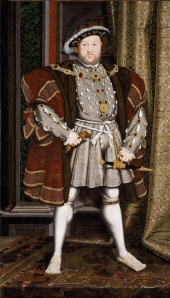 A portraiture of Henry VIII by the workshop of Hans Holbein the Younger.  Date:  1537-1547