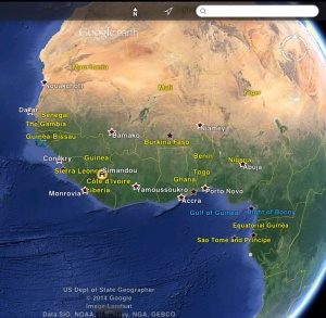 Simandou Mine zoom out to countries