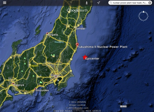 4.3 Quake near Fukushima ca Oct. 19 2014