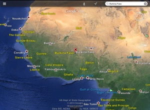 Burkina within West Africa