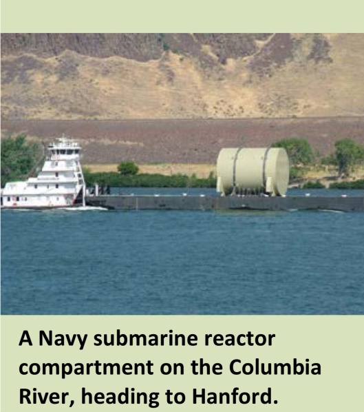 A Navy sub reactor on the Columbia R. US DOE or MIl or Oregon