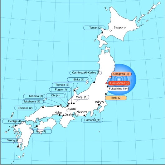 Tsunami heights March 2011 earthquake Japan given to Public Domain