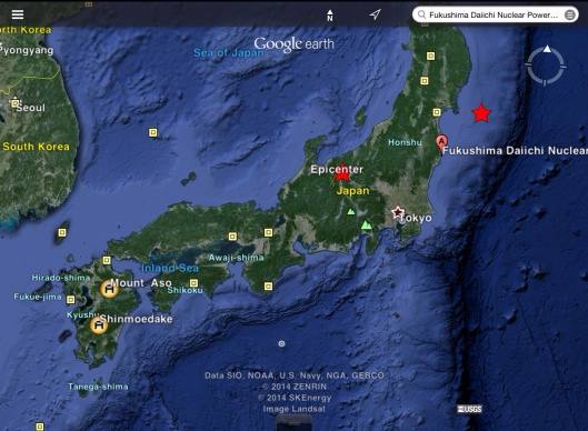 9.0 and 6.8 Japan quake and volcanos