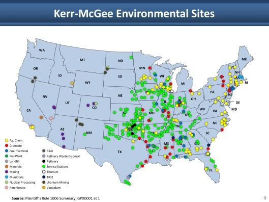 Kerr McGee Contamination Sites