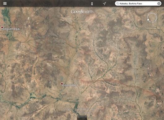 area of Cluff-Amara Kalsaka Sega mine
