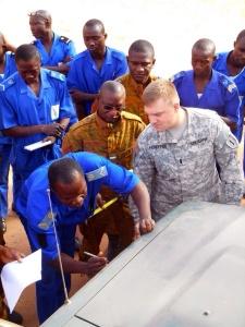 US Mil teaching in Burkina Faso U.S. Army Africa photo by Capt. Theresa Giorno