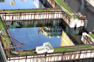 The B30 pond in 2006 - with the Windscale Pile reflected